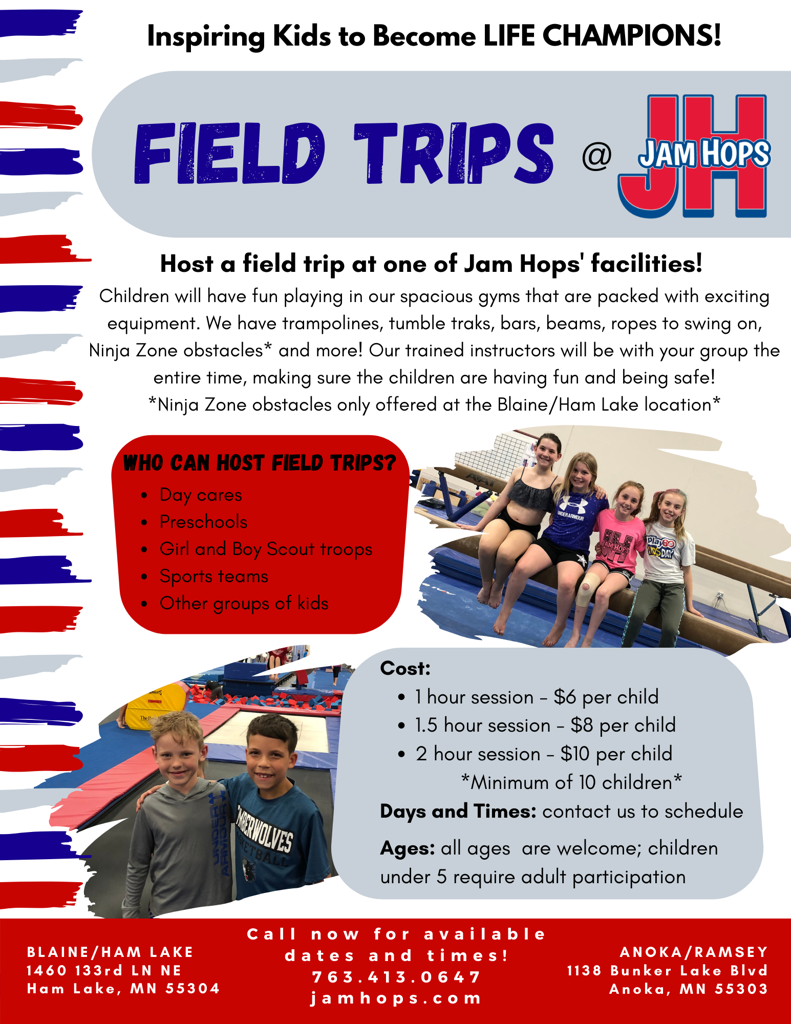 Field Trip at Jam Hops Flyer