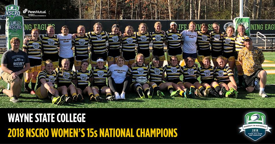 Wayne State College wins 3rd national title in a row at 2018 NSCRO Women's 15s National Championship