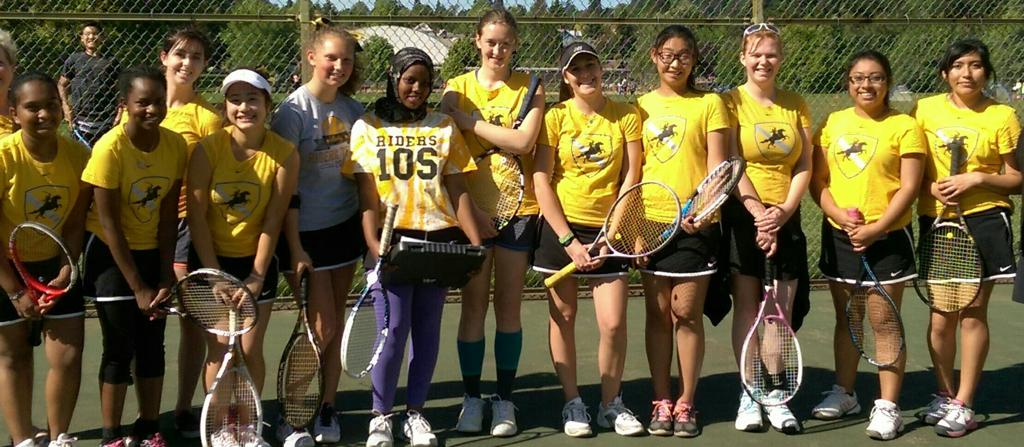 2015 Roosevelt High School Varsity Girls Tennis Team