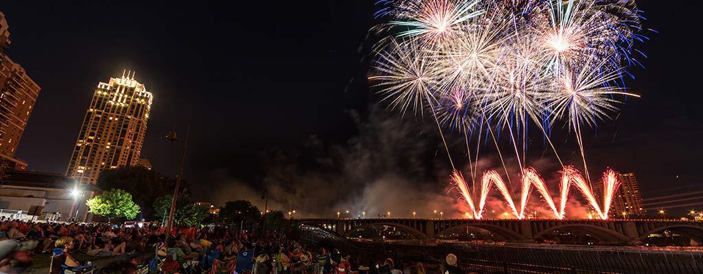 Aquatennial, Target, Target Fireworks, Downtown Minneapolis