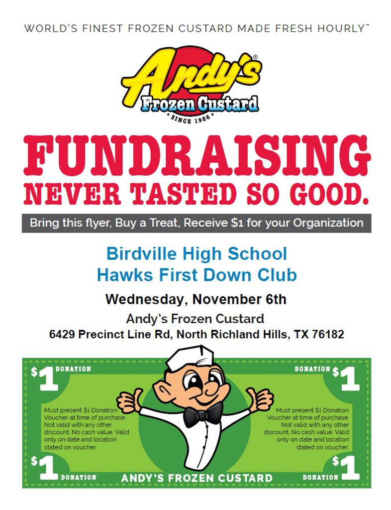 Andy's Fundraiser Nov 6th