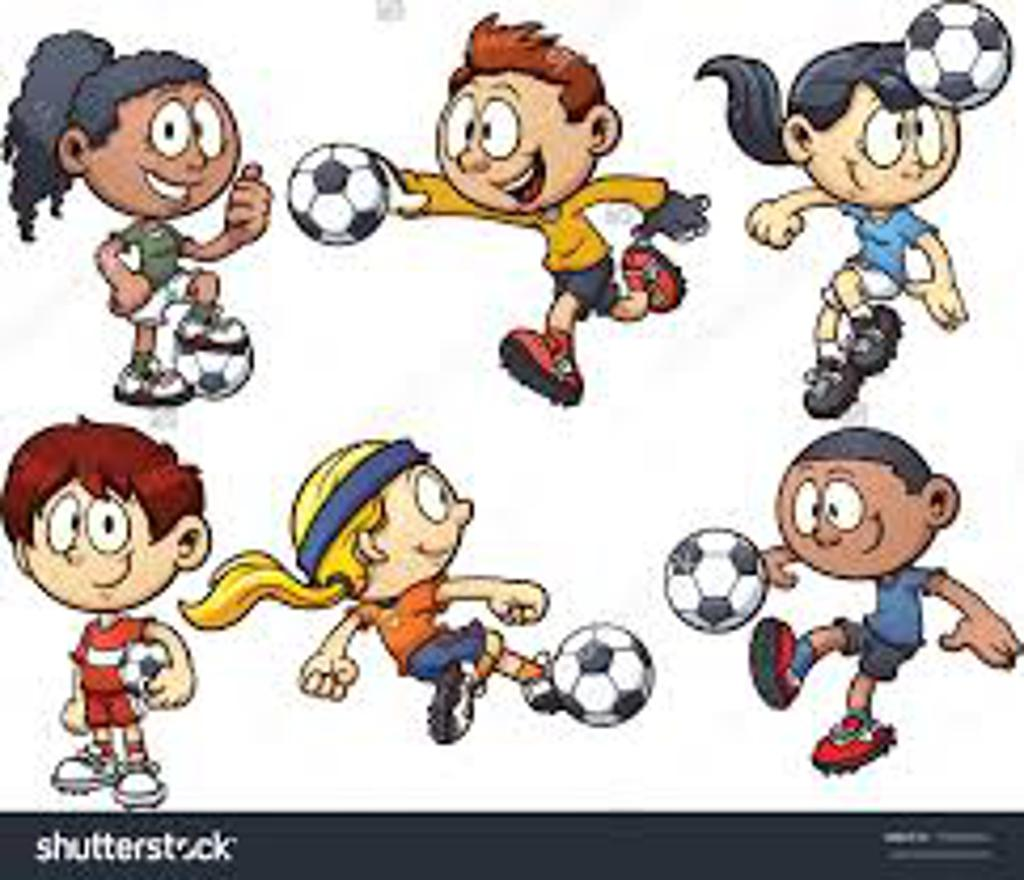 Cartoon Characters Playing Sports : Jersey area girls soccer league