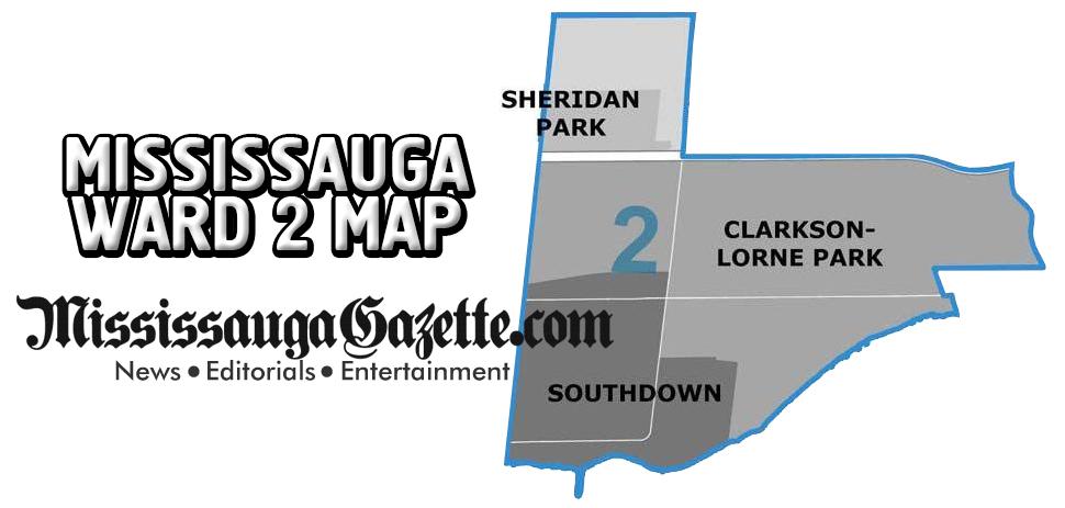 Mississauga Ward Map - Mississauga Ward 2 Map and Mississauga Ward 2 Boundaries - Mississauga News and Newspaper