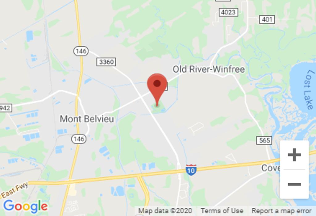 Map to Mont Belvieu City Park Soccer Fields