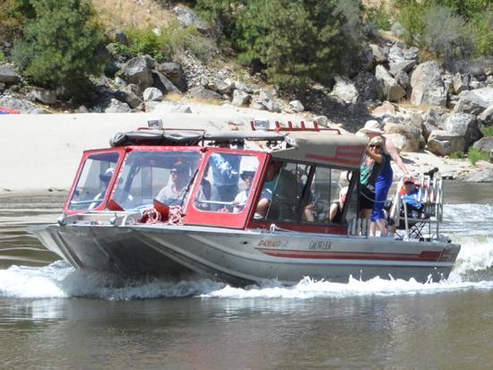 Idaho Jet Boat wilderness tours on the salmon river