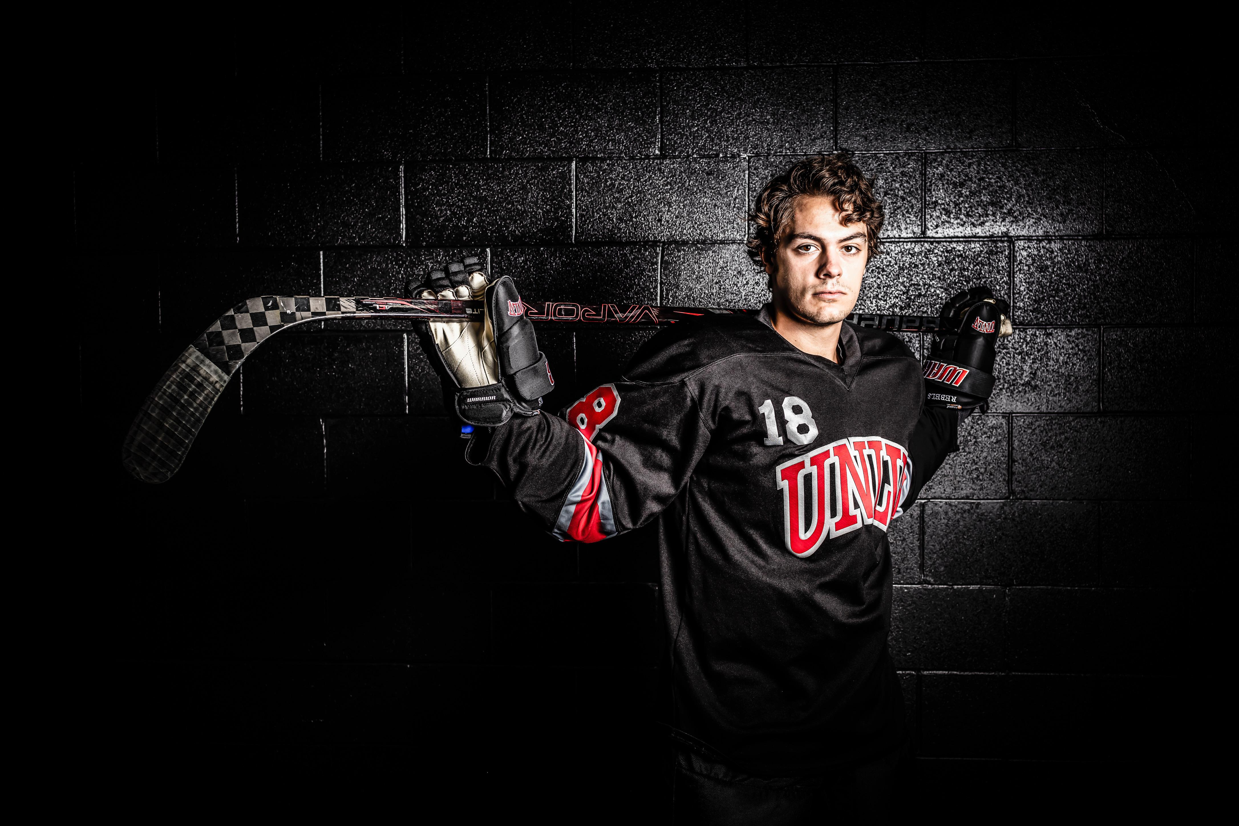 UNLV is building its hockey program and what it has already accomplished, along with what it hopes to accomplish, convinced Littleton native Kirk Underwood to transfer there. Contributed photo/ UNLV Hockey