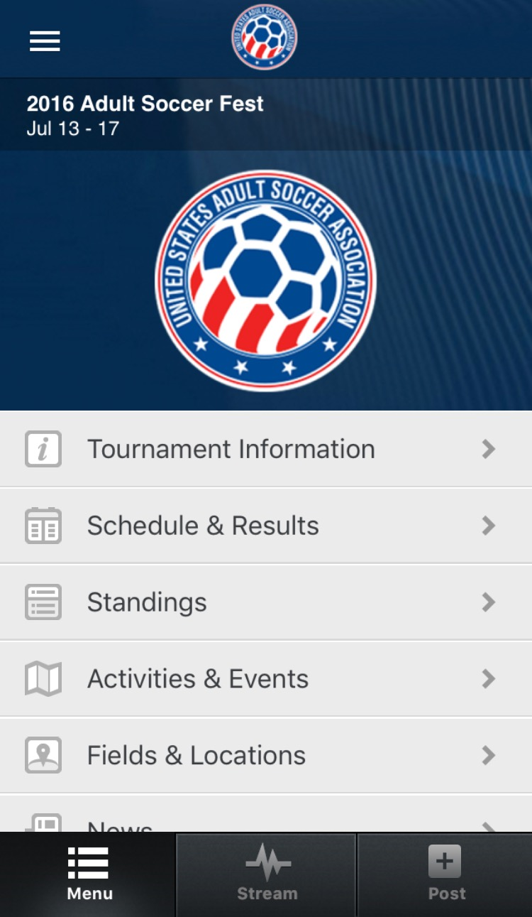 The Usasa Tournament App Is The Best Way To Maximize Your Adult Soccer Fest Experience The App Offers Instant Up To Date Scores And Standings A Field Map