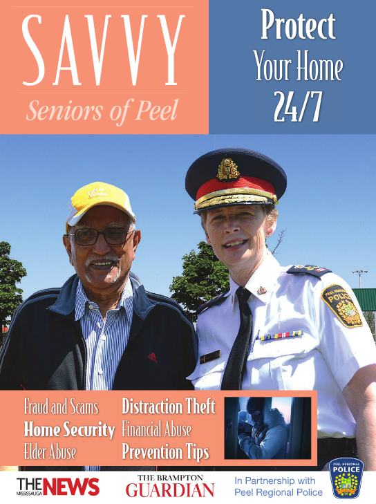 Savvy Senior magazine in mississauga with Karen Ras Council Ward 2 - Kevin J. Johnston and Khaled Iwamura from Insauga.com
