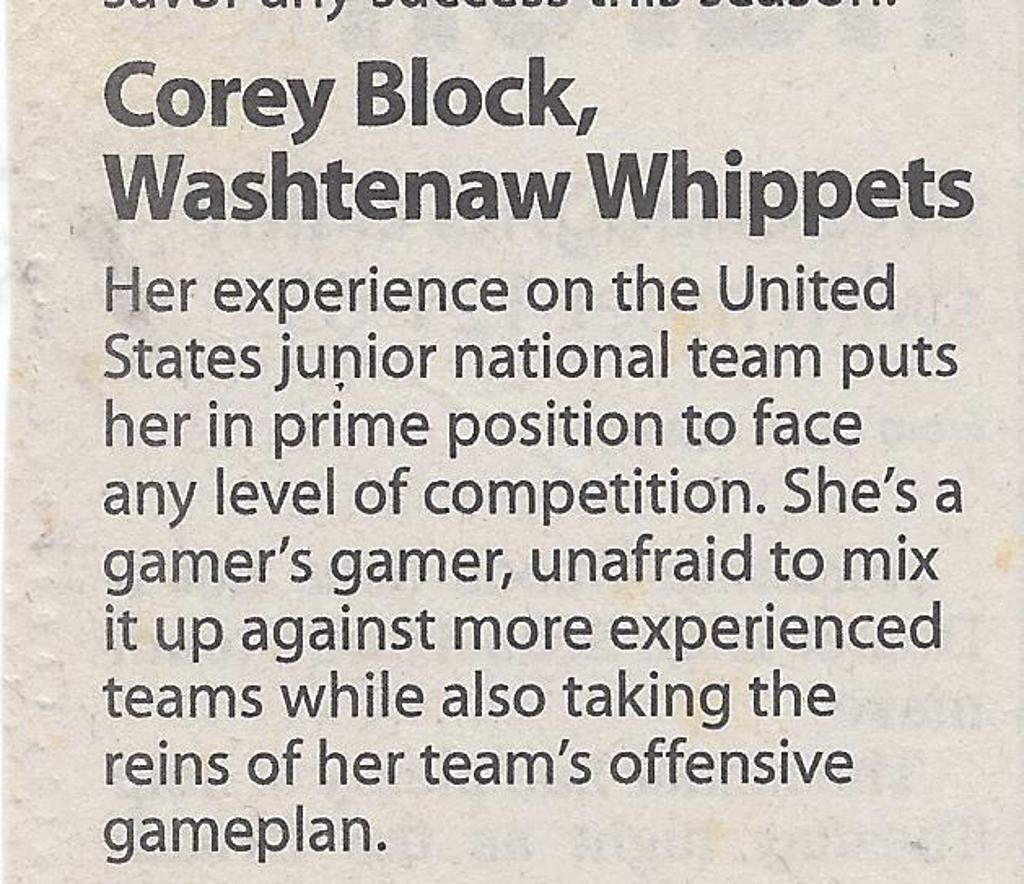 Star player Corey Block