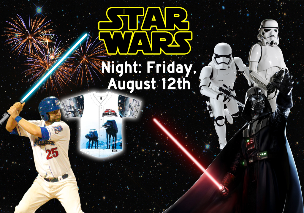 Join us in a galaxy far, far away for Star Wars Night at Paisades Credit Union Park, in Pomona, NY.
