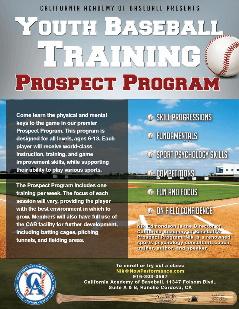Baseball Training Vendors