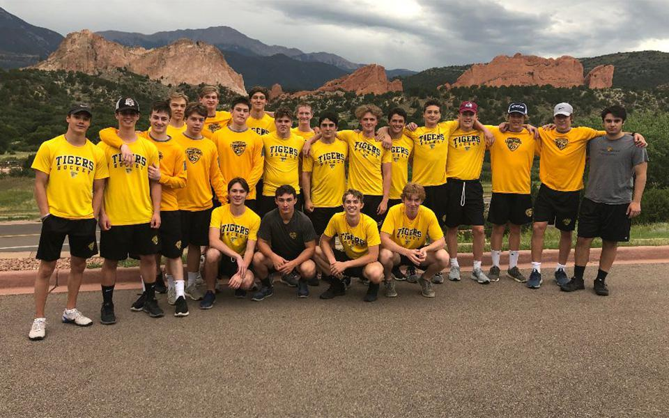 Head coach Kevin Holmstrom said his Colorado Springs Tigers 18U AAA team has high hopes for the season, including competing in the North American Prospects Hockey League. Photo courtesy of the Colorado Springs Tigers