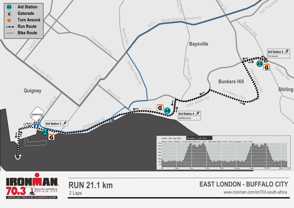 Run course map IM703 South Africa