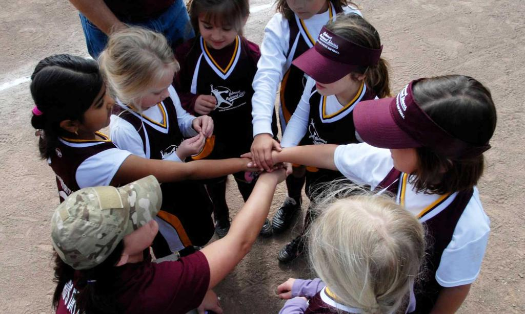 Tee ball team meeting