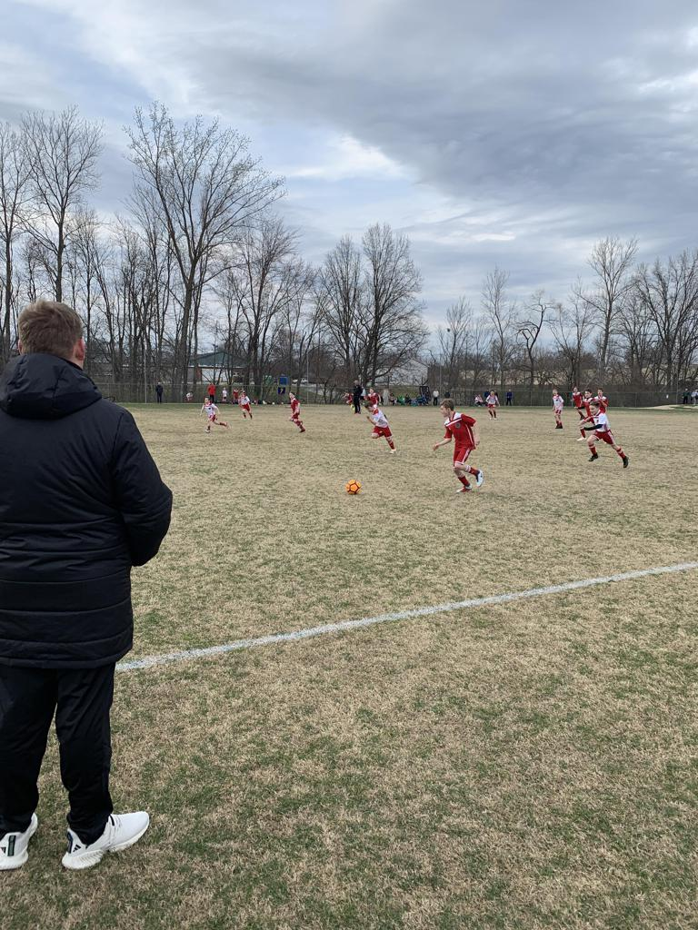 Kentucky Fire Juniors training during our affiliate club visit.