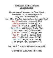 Tentative update   schedule shelbyville pga jr  1  small