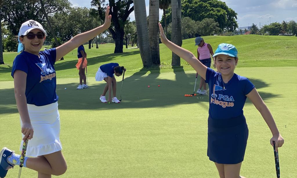 PGA Jr. League players air high five