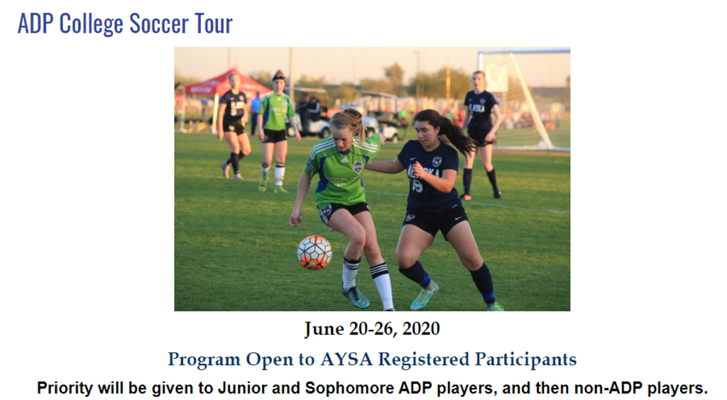 ADP College Soccer Tour