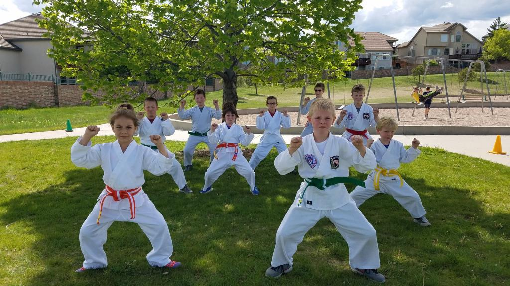 After school martial arts program at West Woods Elementary in Arvada CO