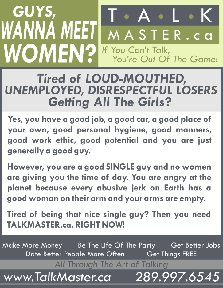 Talkmaster.ca - Learn To Talk To Women - Confidence Training - Corporate Talking