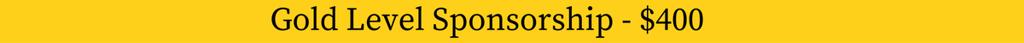 Crossfire Sponsorship Level Gold