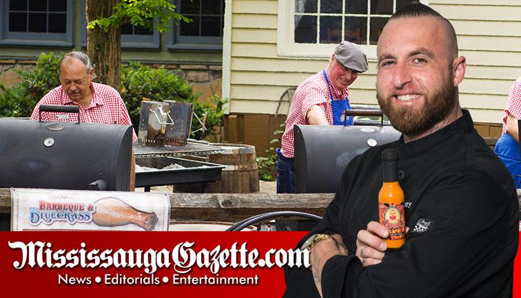 Chef Thomas Sharpe of Sharpe Foods is Mississauga's best hot sauce maker and makes hot sauce in Mississauga for ribs and chicken wings and steak and chicken Bar and Grill in Mississauga along with mayor Bonnie Crombie and Kevin J Johnston. This is the Mis