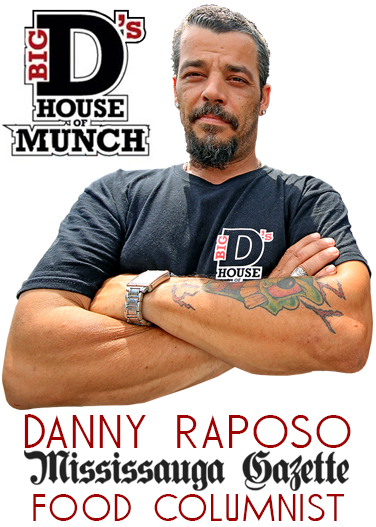 Big D's House of munch with Danny raposo and Kevin J Johnston. MasterChef Canada television show and the Food Network in Mississauga along with Rogers Cable 10 and mayor Bonnie Crombie love to eat at Big D's House of munch. This is the Mississauga Gazette