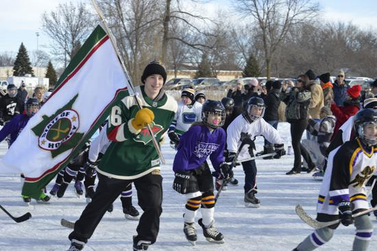 Outdoor Pond Hockey In North Mankato Minnesota