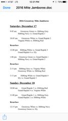 Mite jamboree schedule small