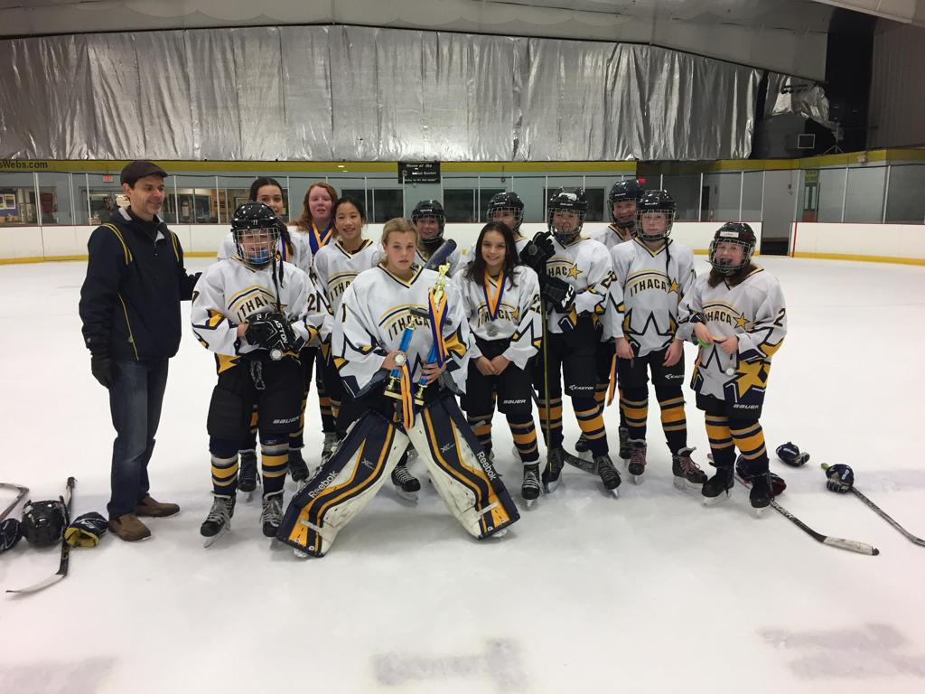 December 4th 2016.  The 14U Ithaca Shooting Stars placed 2nd in the 18th Annual Ithaca Shooting Stars Hockey Tournament