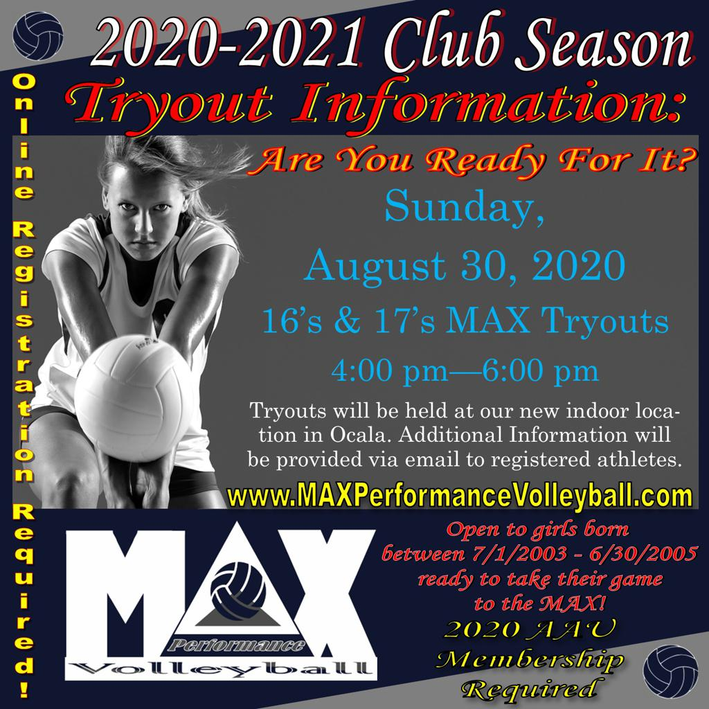 16's & 17's Tryouts