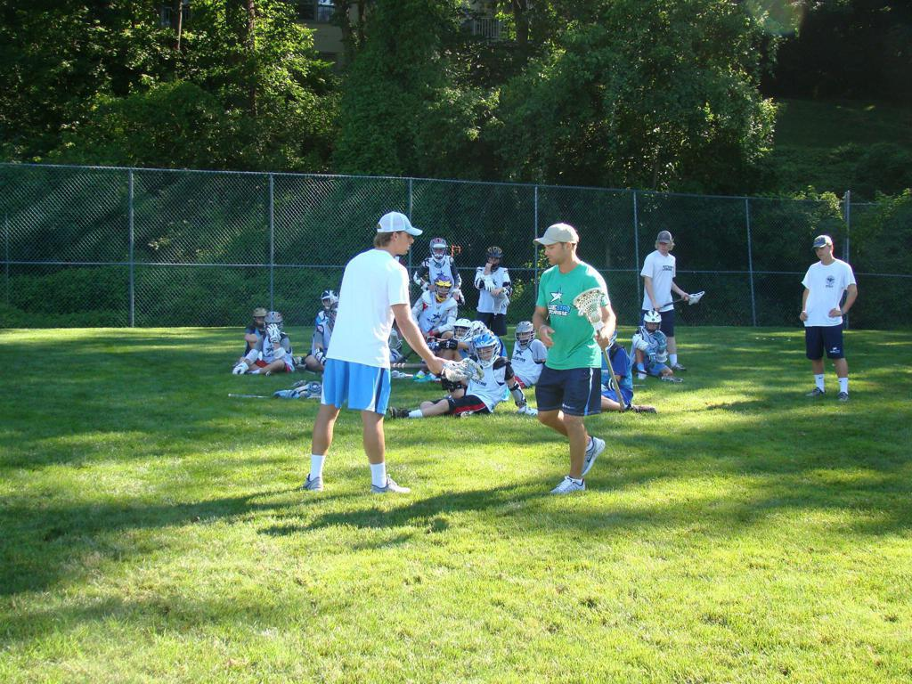Coaches Owen Black and Bryan Hopper Teaching Midfield Dodging and Defense