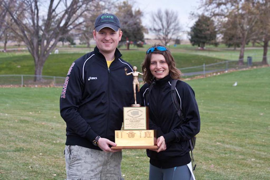 Coach Troy & Jody (w/State Trophy)