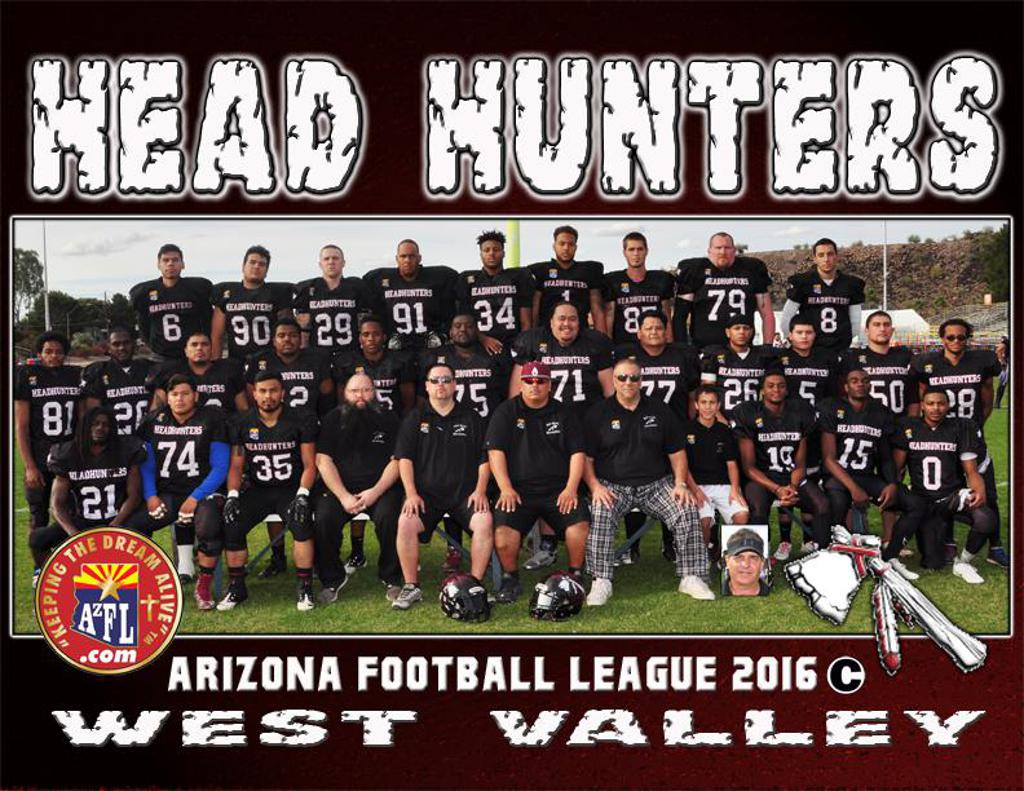 Head Hunters West Valley AzFL 2016 team pic