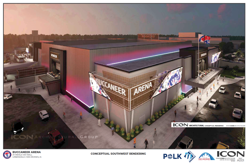 A rendering of the new rink.