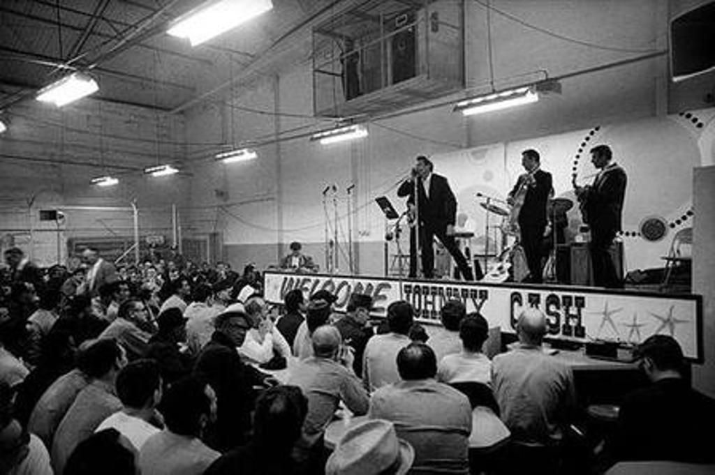 Johnny playing at Folsom Prison