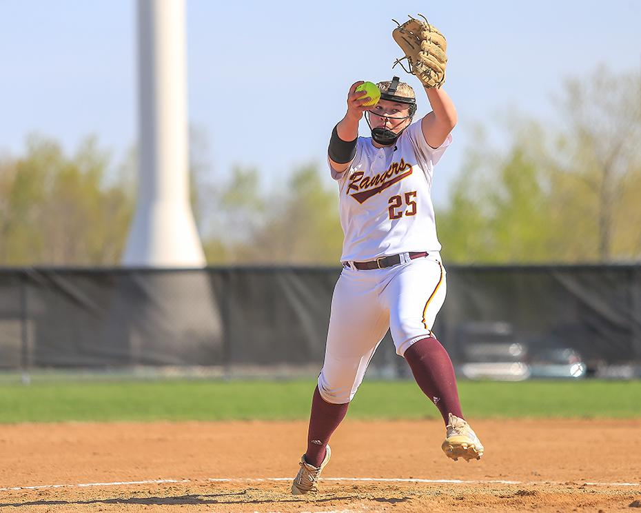 Forest Lake's Claire Bakkestuen struck out seven and allowed only four hits in a complete game effort. Photo by Mark Hvidsten, SportsEngine