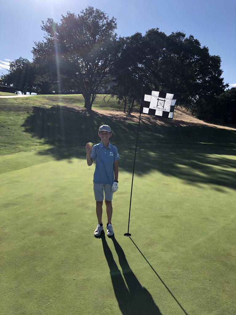 PGA Jr. League player Owen Bousman carded his THIRD hole-in-one from 155 yards with a 4-Hybrid on his last shot of the day!
