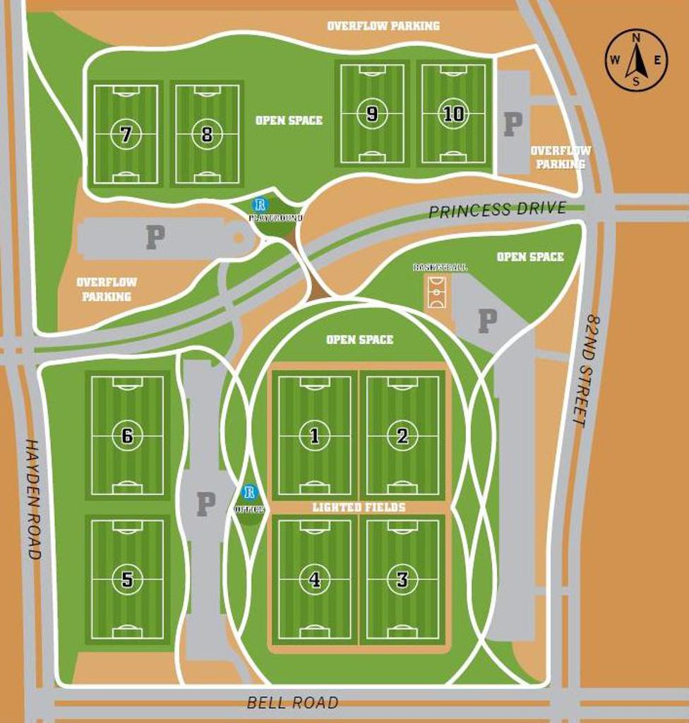 Scottsdale Sports Complex field map
