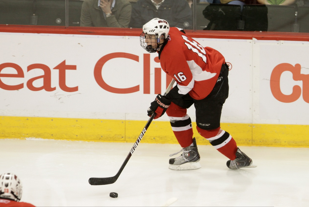 Brady Skjei skating for Lakeville North at State