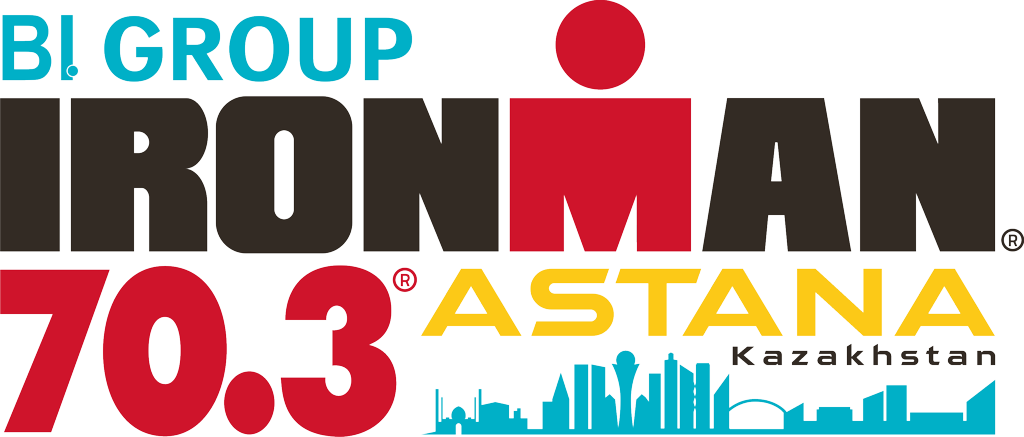 official BI GROUP IRONMAN 70.3 Astana race logo