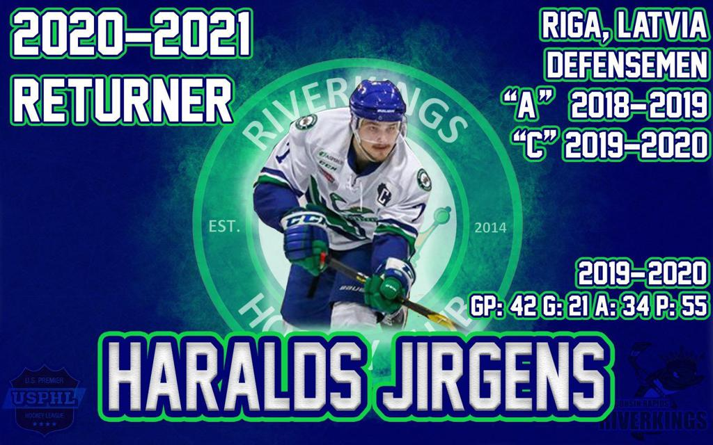 SIGNING ALERT!! We are happy to welcome back Captain Haralds Jirgens as he returns for his 3rd year with the Riverkings! Jirgens came off a great season as he lead the Riverkings with 55 points in 42 games and averaged 1.31 points per game!