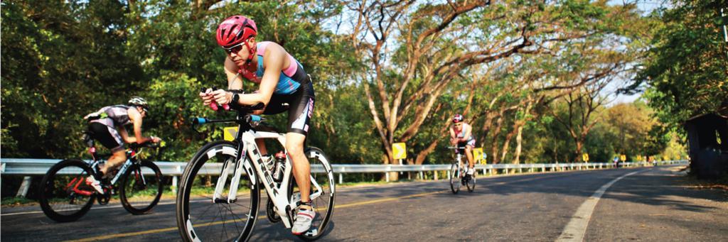 Bikers participating in IRONMAN 70.3 Bangsaen