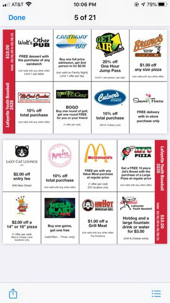 2020 Fundraiser Card $10.00 Each