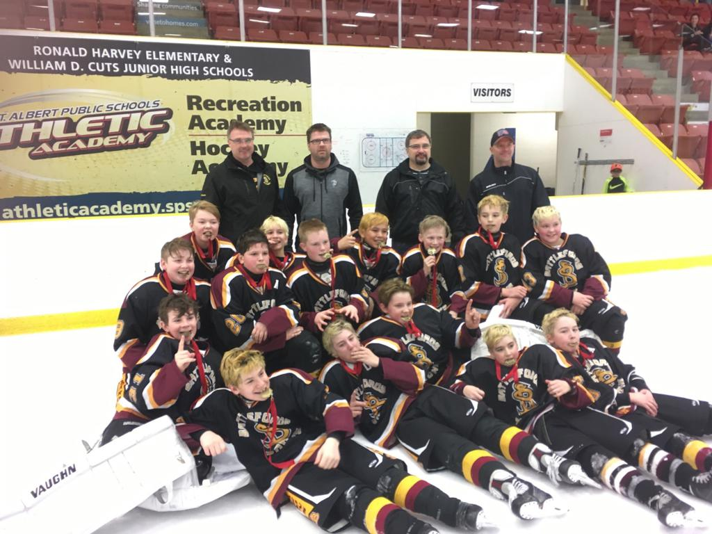 A side Champions at the St.Charles Spring Breakaway Challenge in St.Albert Alberta