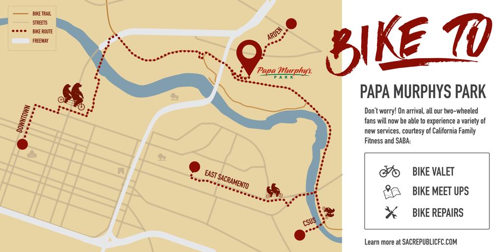 Bike to Papa Murphys Park