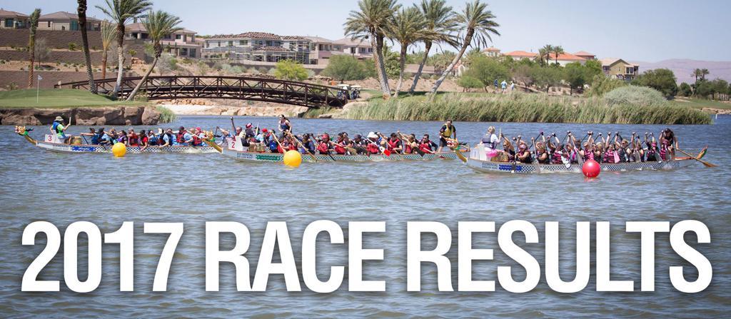 2017 Nevada Dragon Boat Race Results