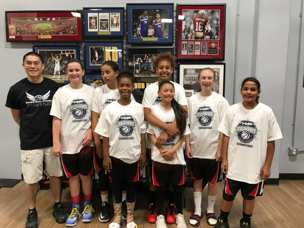 Payton's Place Girl's getting the job done...MVP Flight League 6th grade Division 1 Champion's