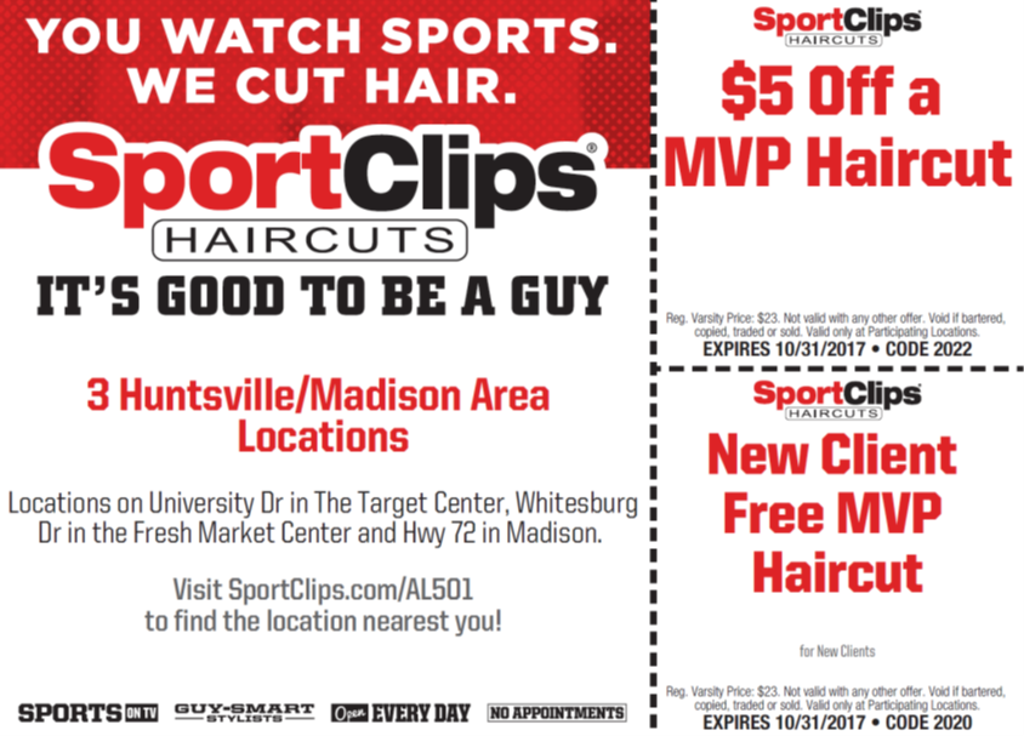 Sport Clips Haircuts Is Newest Sponsor