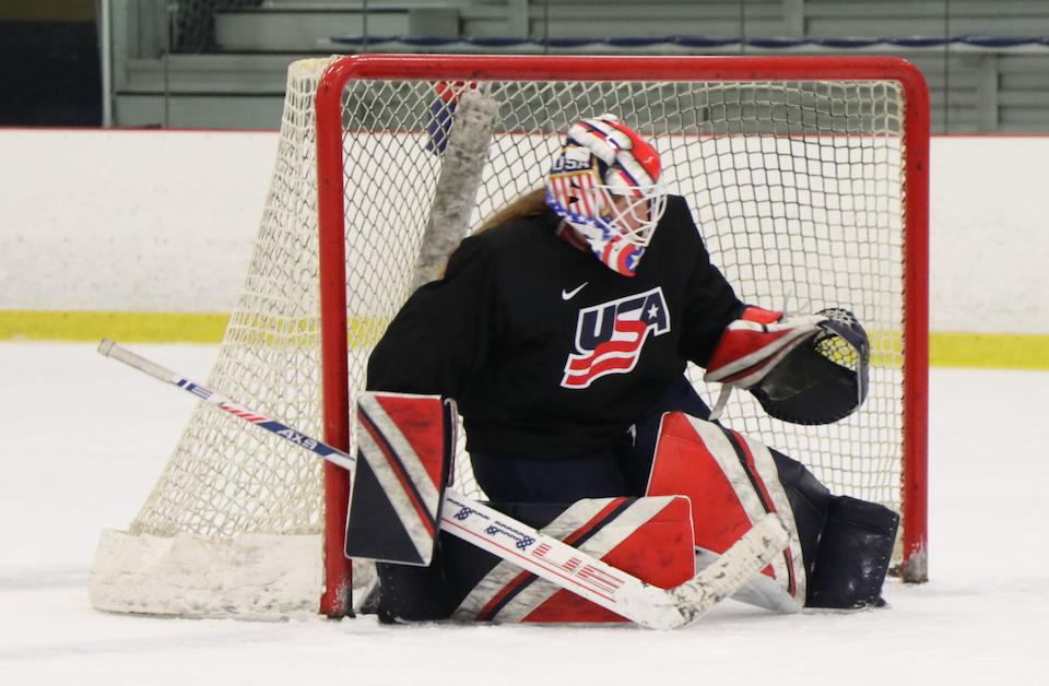 Nicole Hensley participated in the 2021 U.S. Women's National Team Selection Camp at the National Sports Center in Blaine in early June. Photo courtesy of USA Hockey